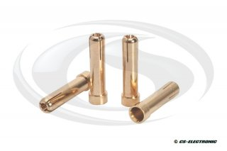 LRP 5mm auf 4mm Gold Works Team Adapterstecker (4...