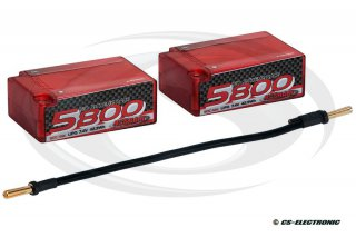 NOSRAM LiPo 5800 X-treme Race 2S Saddle Pack Hardcase...