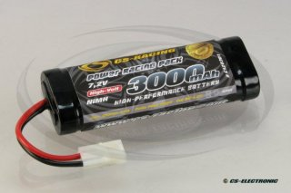 NiMh Power Racing Pack 7,2V 3000mAh -6-Zellen Stickpack-