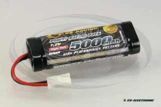 NiMh Power Racing Pack 7,2V 5000mAh -6-Zellen Stickpack-