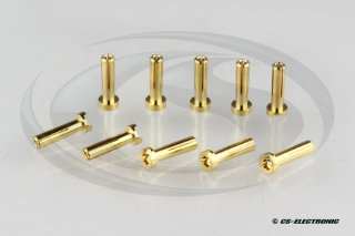 G4 Goldkontakt Stecker 4,0mm - Low Profile- (10)
