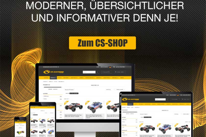 Relaunch CS-Shop Webseite