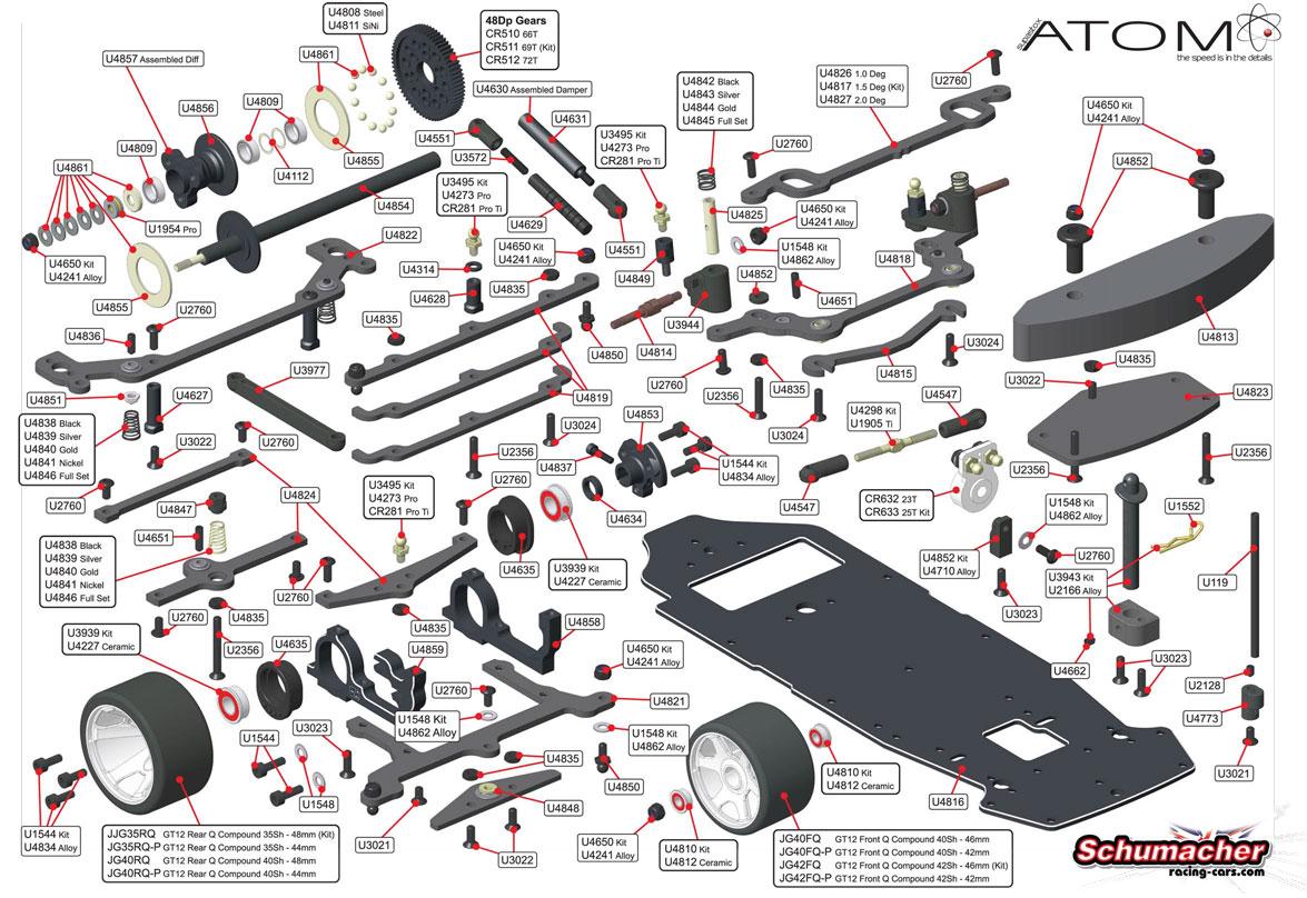 Schumacher RC | CSupastox Atom alle Tuning-Zubehör-Ersatzteile |