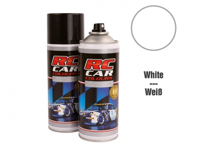 RC Car Colours - Lexan Spray Weiß 150ml Lexanfarbe