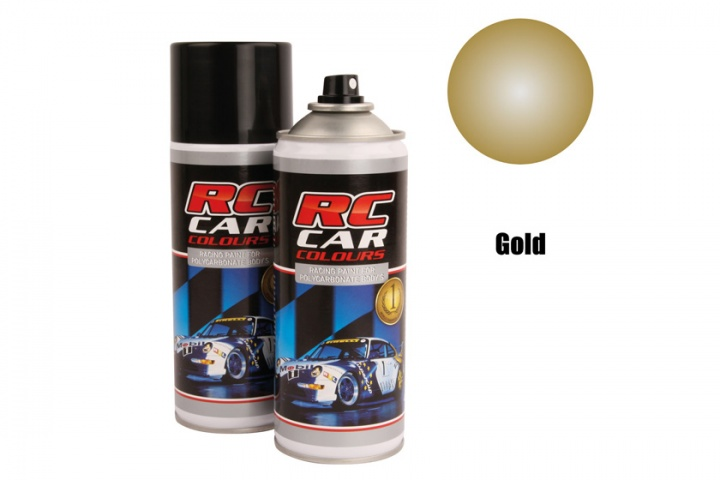 RC Car Colours - Lexan Spray Metallic Gold 150ml Lexanfarbe