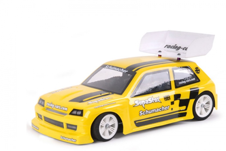 1:12 Karosserie Schumacher SupaStox Hot Hatch Type RC, unlackiert